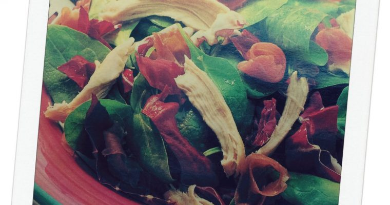 Simple Spinach Salad with Creamy Orange Dressing