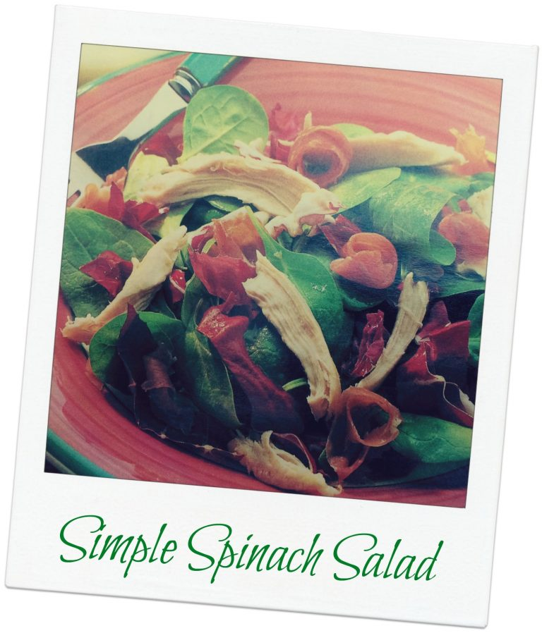 recipe - spinach salad with chicken